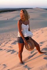 Roxane (Sarah Joy L.) Tags: girl france woman beach atlantic dune sand arcachon bordeaux canon7d canon 50mm sunset summer holiday vacation travel portrait photoshoot photography