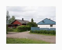 Kirunavägen, Pajala 2017 (Karl Gunnarsson) Tags: pajala norrbottenslän sweden se g80 panasonic20mmf17 kirunavägen sverige norrbotten houses trees bushes
