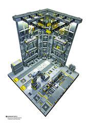 Hangar NO.5 Diorama Maintenance. (Benjamin Cheh) Tags: mecha diorama hangar lego afol