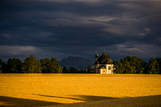 Soft light under the thunderclouds
