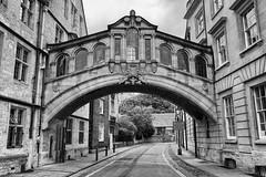 Hertford Bridge, Oxford (1206) (travelintime (on and off)) Tags: bridge hertford college oxford england oxfordshire architecture building monochrome blackwhite blackandwhite samsung nx2000 travel unitedkingdom greatbritain gb