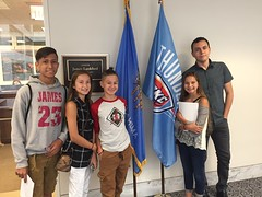Oklahoma Senator Lankford's coffee with Casey Camp Horenik's grandchildren