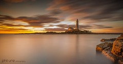 The Warming (Pureo) Tags: stmarys northeast northsea island seascape sea northeastengland ndgrad leefilters littlestopper le sky sunrise glow goldenhour serene canon canon6d canondslr 1740mm