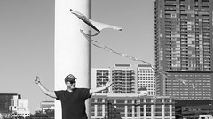 An Amazing Life (Dylan Childs) Tags: comedy humor satire parody spoof kite kiting sports mockumentary funny skyblades sky blades benjohnson dylanchilds canon austin texas blackwhite bw