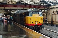 19920808 Crewe. 31413 (D5812) 'Severn Valley Railway' Arrived With 2K54, 10.29 Ex-Holyhead (15038) Tags: railways trains br britishrail diesel locomotive class31 31413 d5812 severnvalleyrailway crewe