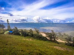 Our campsite above Jesus, Peru at 3900m.