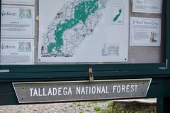 A Beautiful Forest in Alabama (I'magrandma) Tags: alabama map forest talladeganationalforest cheahamt camping sign