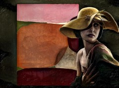 Femme au chapeau (skizo39) Tags: femme chapeau mujer sombrero woman hat collage layers art digitalprocessing digitalart digitalpainting photomanipulation colors colorful graphical design creation artistic