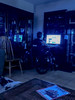 Blue Room with Drew (cobalt123) Tags: drew blue cobalt cobaltblue computer family glow glowing home iphone6plus peaceful quiet son