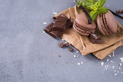 Chocolate macaroons with mint (lyule4ik) Tags: macaroons ice cream chocolate mint vanilla food dessert biscuit cake cocoapowder color colorful confection confectionery cookie cuisine delicacy delicious different flavor flour bake france french gastronomy gourmet macaron macaroon meringue multicolored pastry pink pistachios raspberries rotates savor snack spinning stack sugar sweet taste tasty traditional