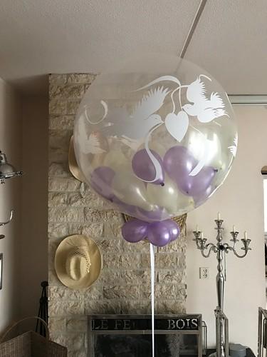 Cloudbuster Rond Lovedoves Stuffed met Kleine ballonnen