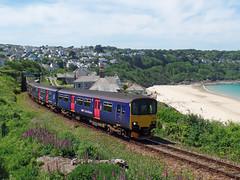 150121 & 150106 Carbis Bay (1) (Marky7890) Tags: gwr 150121 150106 class150 sprinter 2a26 carbisbay railway cornwall stivesbayline train