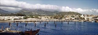 Honolulu Harbor Panorama 1950s