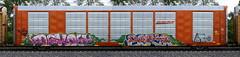 Dekoy/Seka (quiet-silence) Tags: graffiti graff freight fr8 train railroad railcar art autorack dekoy seka etc bnsf ttgx693300