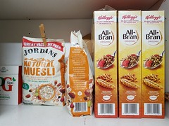 2017 0530 501A (SGS8+) Breakfast and late night cereals (Lucy Melford) Tags: samsunggalaxys8 muesli all bran cereals