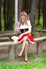 Alena Mnsk (Helen Buckley 1958) Tags: pvc blueeyes boyindress coloredcontacts contactlens crossdresser fancydress fishnet glossytights halloweencostume longnails makeup maletofemale shinepantyhose tgirl wig