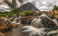 Go with the flow..... (Einir Wyn Leigh) Tags: landscape scotland mountain blur waterfall river rocks light walking love happy nature natural longexposure contrast clouds uk green foliage leaf tree hill