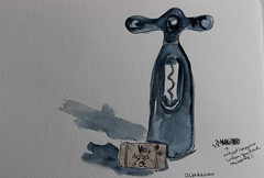 22- Corkscrew (cheesemoopsie) Tags: aquarelle watercolor croquis sketch