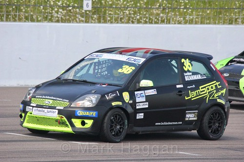 Lochlan Bearman in the Fiesta Junior championship at Rockingham, June 2017