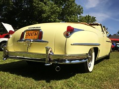 Made in the USA Carshow - Lake Wheeler 2017 (osubuckialum) Tags: 2017 cars carshow show raleigh nc northcarolina classic vintage 1949 49 chrysler convertible yellow chrome whitewalls windsor