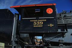GCR # 539 in Williams, Arizona. (Walt Barnes) Tags: gcr539 alco mikado canon eos 60d eos60d canoneos60d wdbones99 topazsoftware pse15 locomotive engine steamengine steam williams arizona tourist grandcanyonrailway scenery scene track trackside rail railroad train