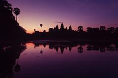 Angkor Wat at sunrise (espinozr) Tags: cambodia southeastasia siemreap sunrise silhouette reflection pond 2017 asia angkorwat temple khmer templecity cityoftemples fav25 fav50