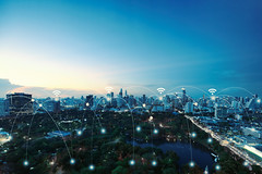 Network connections between city and park background, network an (Krunja) Tags: abstract aerial background blue business city communication community computer concept connect connected connection connectivity creative data design digital electronic element energy geometric global graphic icon idea infograph infographic internet light line medical modern motion network networking office park scape skyline skyscrapers smart social symbol technology things web wifi wireless world