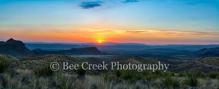 Sunset Over Santa Elena Cayon