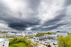 Clouds over Reykjavik (Pezti) Tags: tokinaatx1628f28profx reykjavik iceland clouds city sky