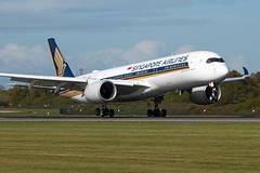 9V-SMF Singapore Airlines A350-900 (Centreline Photography) Tags: airport runway plane planes aeroplane aircraft planespotting canon aviation flug flughafen airliner airliners spotting spotters airplanes airplane flight manchester manchesterairport egcc man ringway rvp runway05r centrelinephotography chrishall aviationphotography