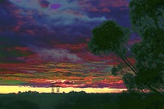 High Energy! (maginoz1) Tags: skyscape landscape surreal abstract art pylons curves manipulate june 2017 canon g3x