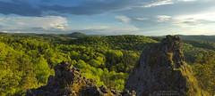 Evening panorama at Luginsland (Bernhard_Thum) Tags: bernhardthum thum schwarzerbrand h6d100 evening franken nature spring frühjahr höhenglücksteig hc3550 rockpaper