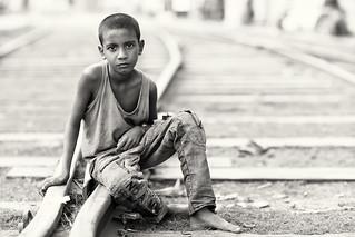 Bangladesh, street kid in Khulna