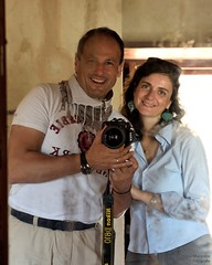 Selfie with my two loves (Paola and NikonD810!) (marcomariamarcolini) Tags: marcomariamarcolini nikond810 nikkor nikkor2470f28 selfie mirror wife paola happiness together reflection reflex daylight color wow oman fort