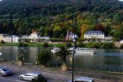 Neckar (DSLEWIS) Tags: neckar river neckarriver heidelberg bridge brucke gate fortifications germany deutschland roadscholar tour