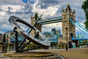 The Clock and the Bridge (George Plakides) Tags: solarclock towerbridge riverthames london clouds hdr sunclock thebestofhdr ngc