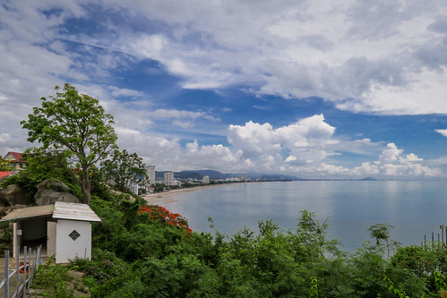 Beach, Hua Hin, from Wat Khao Takap, Hua Hin, Prachuap Khiri Khan
