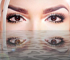 Eyes are the doorway to your soul (Rokky - Owner of Rockadile) Tags: second life advertising advertise eyes brown
