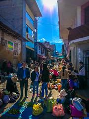 The sprawling Sunday market in Cajabamba, Peru.