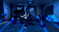 Nocturne Delight - 1001 nights of tails (Hollow's End) Tags: second life sl hollows end he rp roleplay role play virtual world social night club hotel urban horror event nocturne alcohol drinking champagne aristocrats noble investigators dark sapphire delight roses