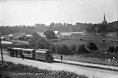 Lucan steam train (National Library of Ireland on The Commons) Tags: robertfrench williamlawrence lawrencecollection lawrencephotographicstudio thelawrencephotographcollection glassnegative nationallibraryofireland lucansteamtram lucan codublin leinster dublin tracks tram steamtram