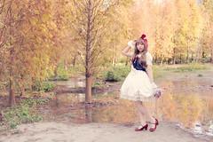 SDF_0840 (SendoFu) Tags: bonnet ボンネット エプロン風スカート blouse bl ブラウス headbow kc カチューシャ bnt 蕾絲 維多利亞 jsk op onepiecedress ワンピース jumperskirt ジャンパースカート nop lolita lolitafashion 蘿莉塔 蘿莉塔時裝 ロリータ・ファッション sweetlolita classicallolita