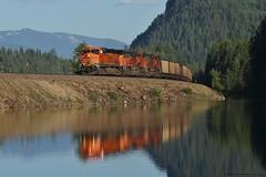 Montana Series Dump - Heron, MT (MinnKota Railfan) Tags: rail sunset montana water clark fork river western bnsf burlington northern santafe rockymountains