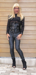 Susan Heid in leather (susanheid) Tags: sexy boots leatherdress leather transgender transvestite sissy erotic stunning amazing hot babe lady tgirl stilettos girl shemale crossdresser
