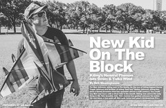 New Kid on the Block (Dylan Childs) Tags: comedy humor satire parody spoof kite kiting sports mockumentary funny skyblades sky blades benjohnson dylanchilds canon austin texas photoshop graphicdesign design blackwhite bw magazine centerfold