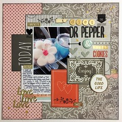 LOAD26 Diet Dr Pepper & Sugar Cookies (girl231t) Tags: 2017 paper layout scrapbook 12x12layout load load26 load517
