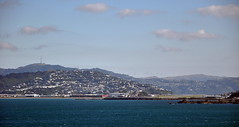 Lyall Bay, Wellington from Fitzroy Bay (Lim SK) Tags: wellington lyall bay airport