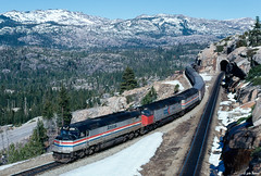 Amtrak 622 at Yuba Pass, CA (thechief500) Tags: donnerpass railroads sp southernpacific espee california