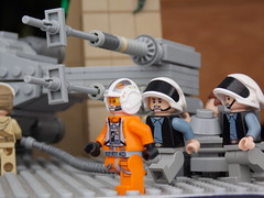 Rebel Base on Yavin IV (Evan Ridpath) Tags: custom ship ywing y lego legoland star wars starwarsdays 2017 yaviniv rebel base hangar rebelbase rebelalliance x wing xwing starfighter bluesquadron redsquadron anewhope episode 4 rogue one yavin great temple creation massassi gonk droid r2d2 c3po luke skywalker princess leia minifigure minifig scale model crates cargo trooper stormtrooper darth vader battle deathstar display diorama vignette starwars