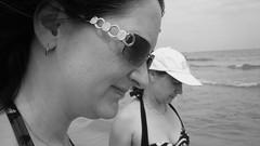 Nokia N8 & PicMonkey - Lisa & Tess, Spain, Aug 2013 (TempusVolat) Tags: girls women sun spain 2013 wife sisterinlaw brunette sunglasses bikini garethwonfor tempusvolat mrmorodo gareth wonfor tempus volat nokia mobilephone mobile snap mono black white waves hat woman girl necklace baseballcap sea wave horizon converted picmonkey n8 nokian8 12mp beach glasses earring chin skin wrinkles cleavage halterneck halter